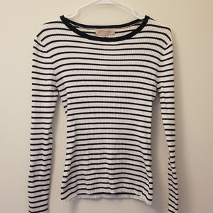 Philosophy striped Long sleeve ribbed top